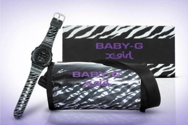 "BABY-G×X-girlのコラボ腕時計、90年代着想""ゼブラ柄""のスケルトン素材を採用"