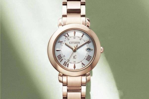シチズン クロスシーのレディース腕時計「ヒカリ(hikari)」光から着想のベゼル&サクラピンク