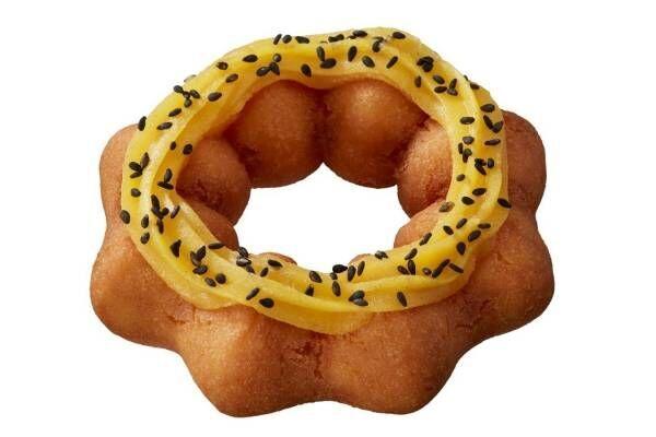 ミスタードーナツ秋限定「さつまいもド」安納芋パウダーを練り込んだしっとりドーナツ、温めればほくほくに
