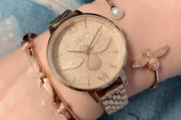 """オリビア・バートンの新作腕時計 - 煌めくグリッターや""""蜂""""モチーフ、冬うさぎの文字盤"""