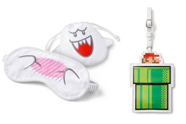 任天堂「スーパーマリオ」のトラベルグッズ、テレサのアイマスクやマリオが飛び出す土管型ICカードケース