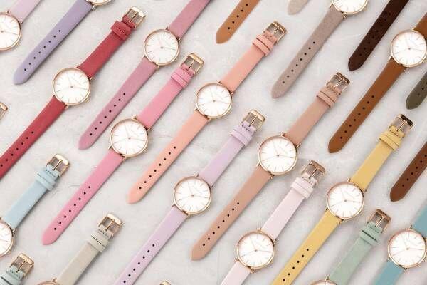 """アレットブラン""""33色""""から選べる腕時計「パレットコレクション」ローズクオーツなどのブレスレットも"""