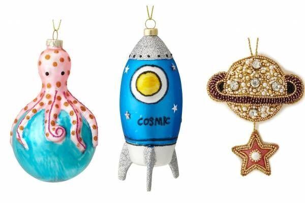 """フランフラン""""宇宙""""着想の19年クリスマス、ロケットやUFOのオーナメント&コズミック柄マグ"""
