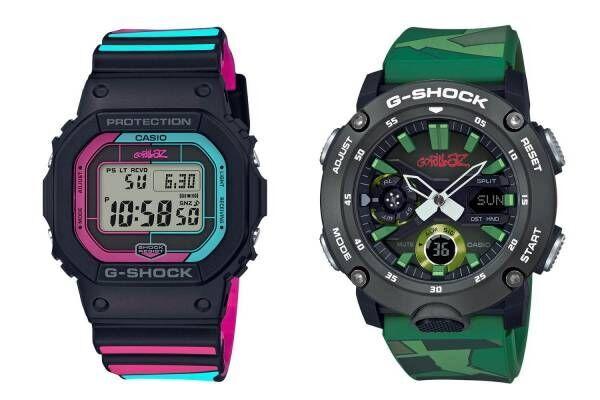 G-SHOCK×ゴリラズのコラボ腕時計、1st&最新アルバムのジャケットデザインに着想