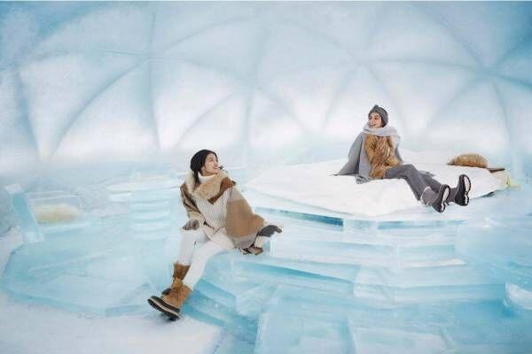 """北海道・星野リゾート トマム「氷のホテル」静かな白樺の森で星空を眺める""""氷の露天風呂"""""""