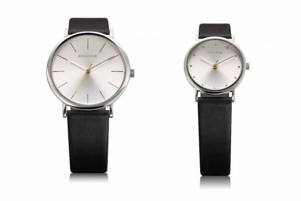 ベーリング クリスマスに向けた新作腕時計、白銀の文字盤+北極星のように輝く秒針のペアウォッチ