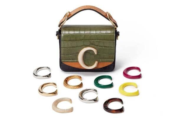 """クロエ初カスタマイズ可能な「クロエ C」バッグが伊勢丹新宿で、全10色のシグネチャー""""C"""""""