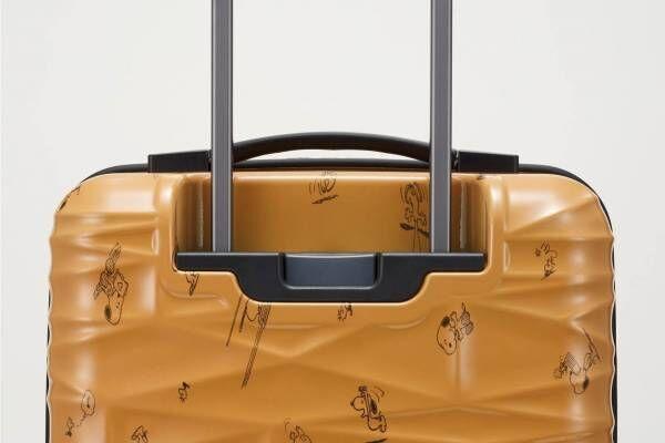 プロテカ×ピーナッツのスーツケース第2弾 - スヌーピー&ウッドストックの総柄、内装はコミック柄に