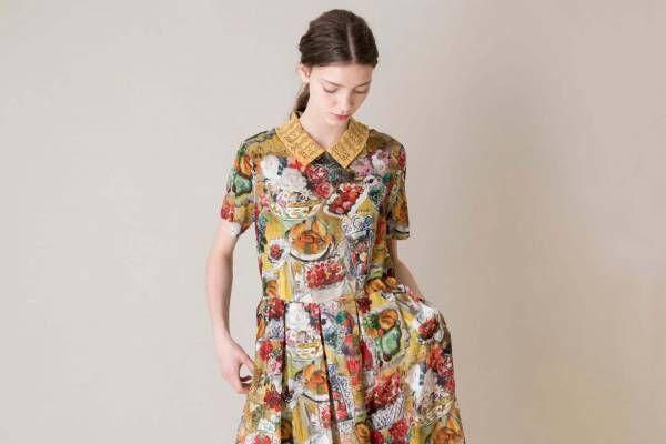 ジェーンマープルドンルサロンの新作、ラウル・デュフィや印象派絵画プリントのドレスやスカート