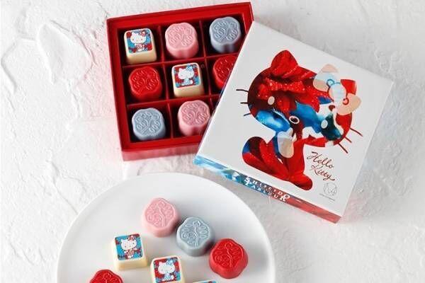 資生堂パーラーよりハローキティ&蜷川実花とのコラボ「花椿チョコレート」限定ボックスで