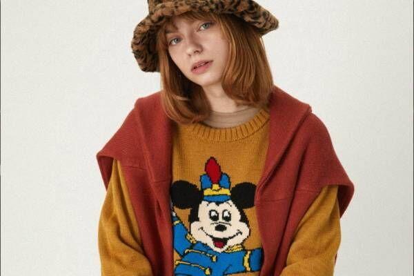 """マウジーのディズニーコレクションに19年冬の新作、ミッキー&ミニー柄ニットや""""手""""パーカー"""