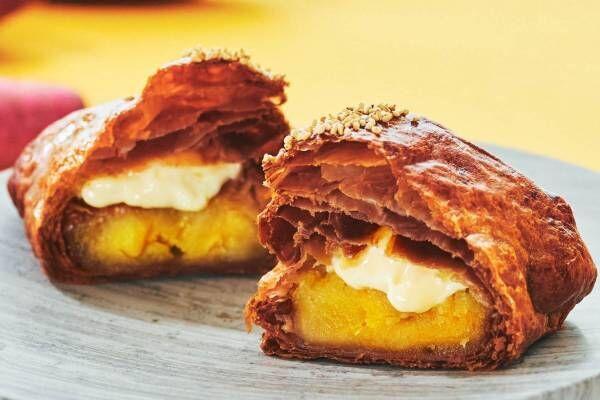 アップルパイ専門店RINGOの限定「焼きたてカスタードお芋アップルパイ」林檎フィリング×お芋ペースト