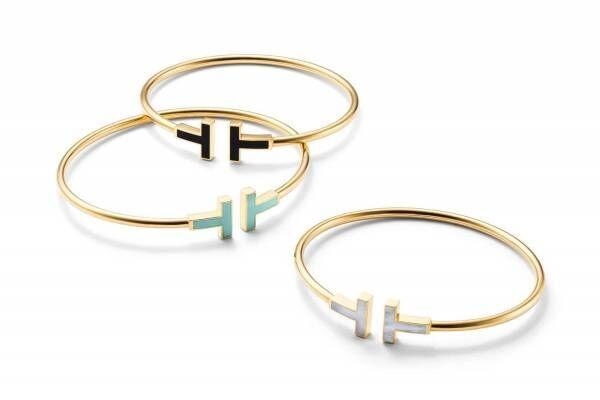 「ティファニー T」の新作ジュエリー、ターコイズ×18kゴールドのブレスレットやペンダント