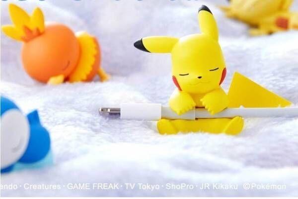 ポケモン「すやすや☆オン・ザ・ケーブル」ピカチュウ・プリン・ポッチャマが充電ケーブル断線予防