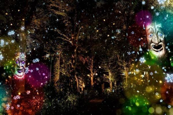 """としまえん×ネイキッドの没入型ミュージカルショー、""""雪の結晶""""舞うイルミネーションで遊園地を彩る"""