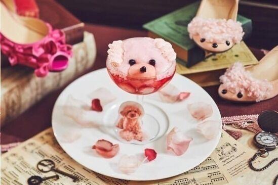 """""""ピンク色のプードル""""を再現したパフェ、ザ ストリングス 表参道で"""