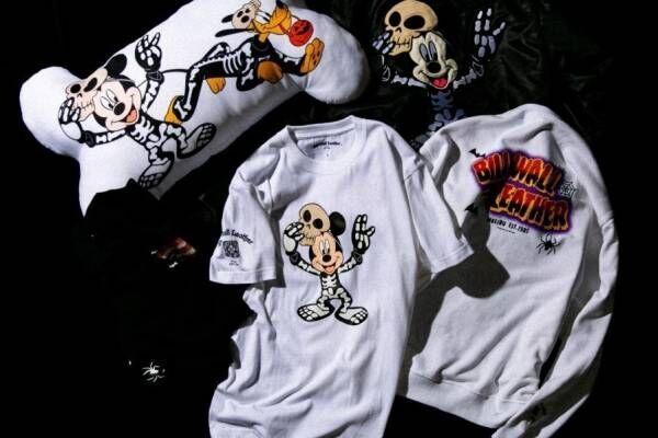 ビームス「ビルウォールレザー / ディズニー」限定アイテム、ホラーなミッキーマウスのTシャツなど