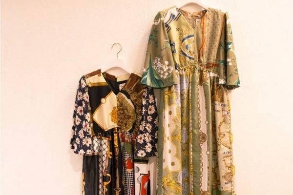 """ミュベール""""1点物""""のヴィンテージスカーフドレスやバッグ、ビームス ジャパンで限定発売"""