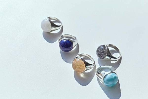ジュエリーブランド・マリハの新作「シルバー」色あざやかな天然石のリングなど