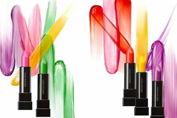 アディクション20年春コスメ - ハッピー春色アイシャドウ&透明発色・濡れツヤのリップバーム