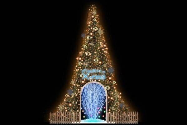 """マークイズみなとみらいのクリスマス - 中に入って楽しむ""""体験型""""ツリー、カラフルに変化する光"""