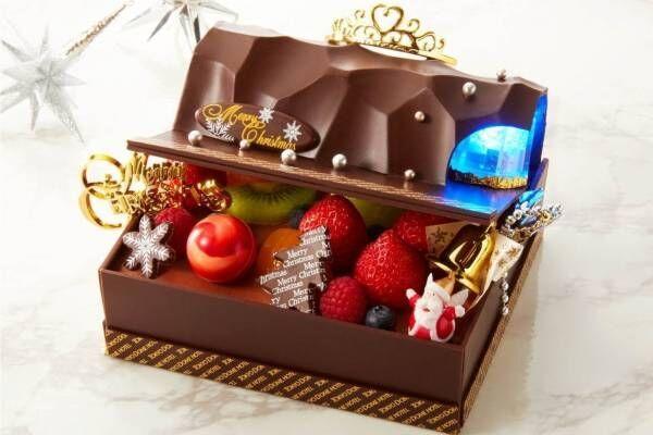"""東京ドームホテルのクリスマスケーキ2019、""""光る""""宝石箱ケーキやドーム型ショートなど"""
