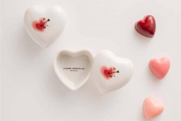 """ピエール マルコリーニ「バレンタインデー 2020」新作ハート型チョコ&""""1粒だけ""""のチョコケース"""
