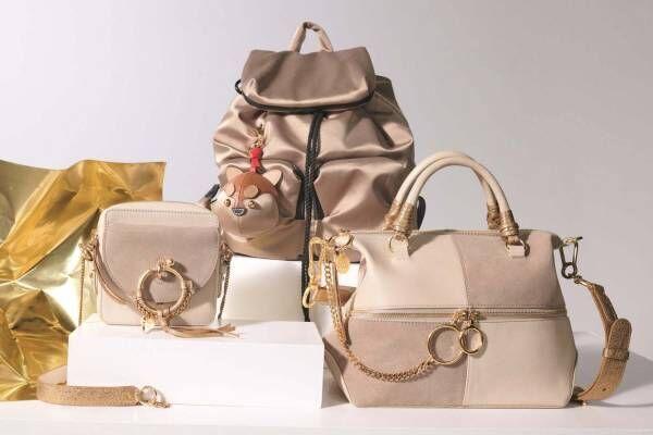 """シーバイクロエのクリスマス限定バッグ&財布、ギフトに最適な""""ゴールド""""輝く人気のジョアンやエミー"""
