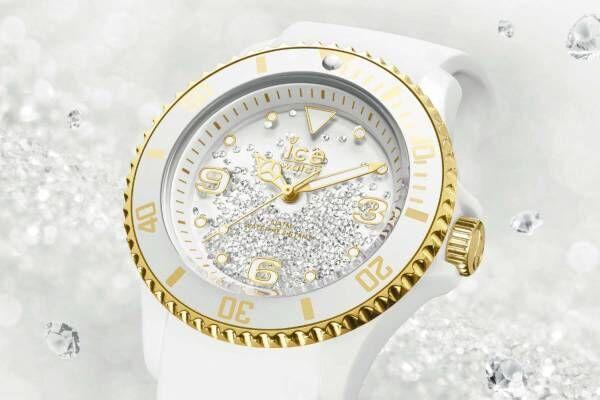 """アイスウォッチ新作腕時計""""スワロフスキークリスタル""""400粒が揺れ動く「アイス クリスタル」"""