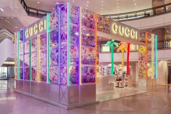 グッチの期間限定ストア「グッチ ピン」福岡に、ヴィヴィッドな花柄「オフィディア」バッグなど
