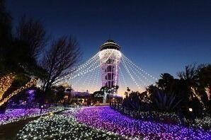 江の島「湘南の宝石」イルミネーション、7万個のスワロフスキー・クリスタル輝くシャンデリアゲート