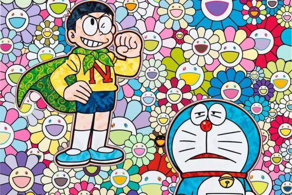 村上隆×ドラえもんの個展「スーパーフラットドラえもん」ペロタン東京で初開催