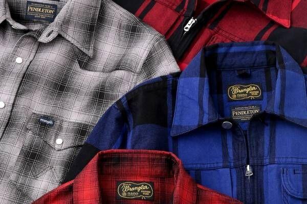 ペンドルトン×ラングラー世界初コラボのチェック柄ウェスタンシャツ、ナノ・ユニバースで発売