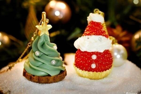 """Q-pot.新作""""クリスマスツリーカップケーキ""""ネックレス、""""ストロベリーサンタクロース""""も"""