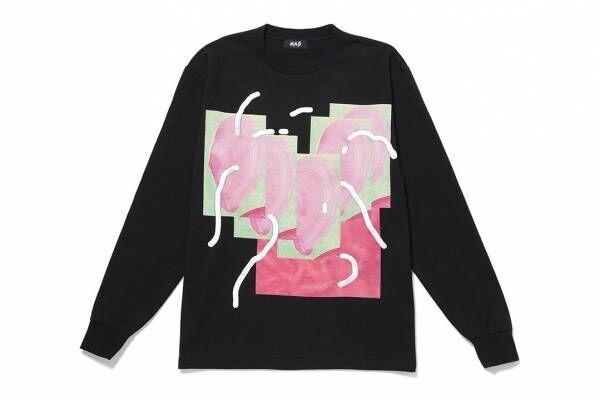 """渋谷パルコ「ポップ バイ ジュン」の""""コラージュ風""""Tシャツ&スカーフ、とんだ林 蘭とコラボ"""