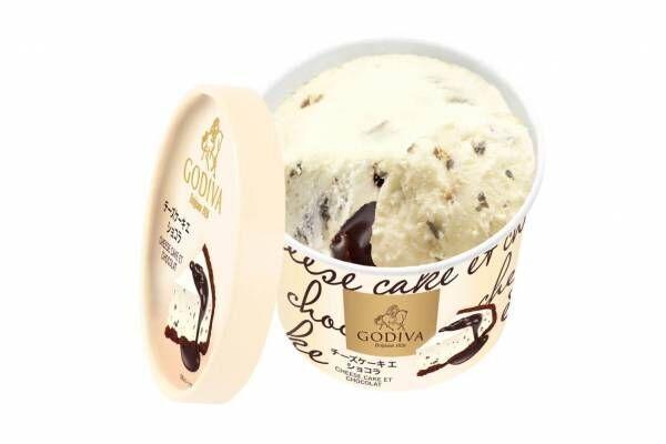 ゴディバ新作カップアイス「チーズケーキ エ ショコラ」芳醇なチーズケーキアイス&上質チョコソース