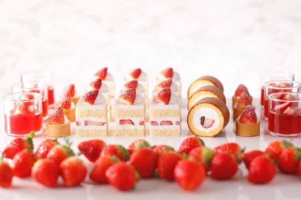 ホテルニューオータニのいちごスイーツビュッフェ、ピエール・エルメとのコラボやショートケーキ食べ比べ