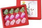 """「クリスマス和菓子」が新宿高島屋に集結、""""ツリー""""生菓子やベル&星モチーフの琥珀糖"""