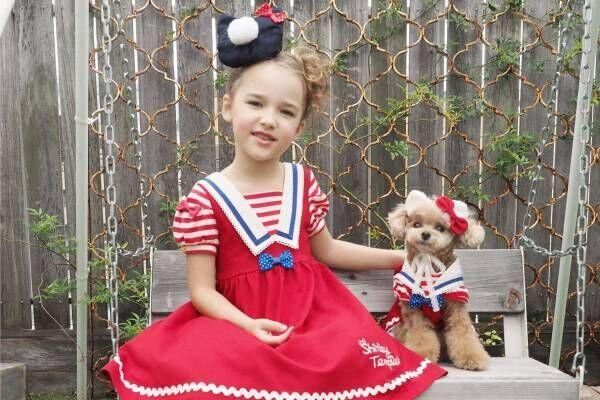 シャーリーテンプル×ハローキティのセーラー風キッズドレスが阪急うめだ本店限定で、ペット用も販売