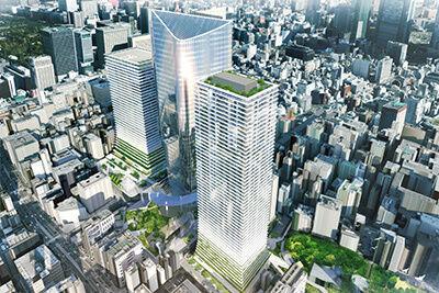 虎ノ門ヒルズ隣接地に3棟の高層タワービル&日比谷線虎ノ門ヒルズ駅が誕生、ビジネス・商業施設がオープン