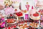 「バービー」コラボのストロベリービュッフェ、ザ ストリングス 表参道にドレス型ケーキや桜モンブラン