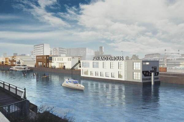 大阪市大正区に新複合商業施設「タグボート大正」フードホールやカフェ&バー、川に浮かぶホテルも