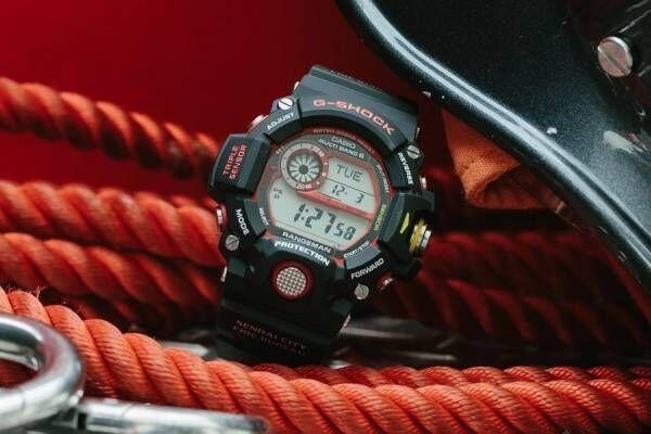 G-SHOCK×緊急消防援助隊のコラボ腕時計、「レンジマン」をベースに防火服や消防車の要素をデザイン