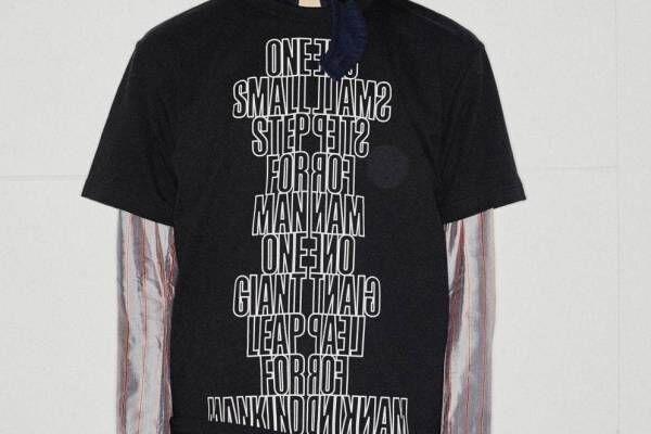 """sacai、宇宙飛行士""""ニール・アームストロングの名言""""を配したユニセックスTシャツ"""