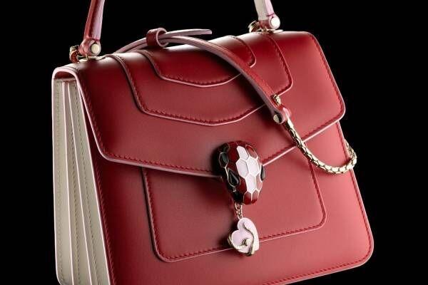 """ブルガリのバレンタイン限定セルペンティ、""""愛""""を表現する3色のバッグやレザーグッズ"""