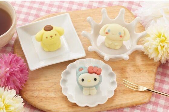 ハローキティ・シナモロール・ポムポムプリンの和菓子「食べマス」全国ローソンで発売