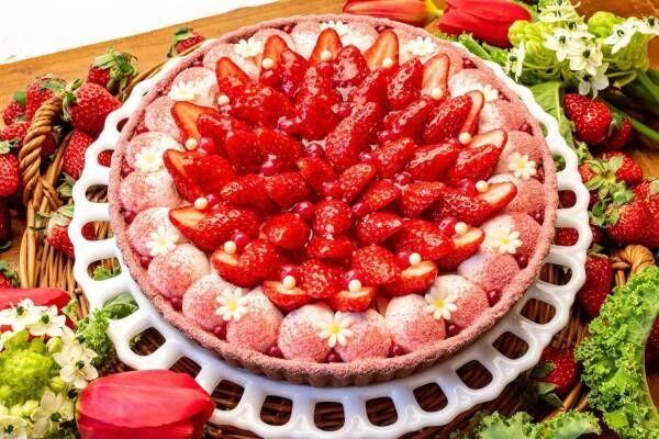 キル フェ ボン「イチゴとチョコレートスフレのバレンタインタルト」濃厚チョコ×爽やかな苺クリーム