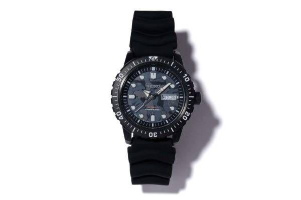 セイコーとベイプのコラボ腕時計、シックなカモ柄の文字盤&ベルトのダイバーズウオッチ