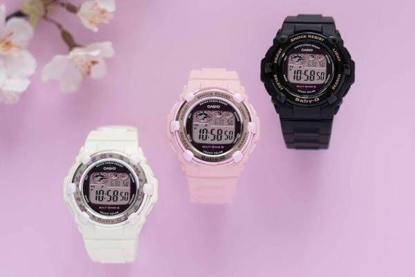 """BABY-G""""桜""""カラーの腕時計「チェリーブロッサムカラーズ」ベゼルに花びらを描いて"""