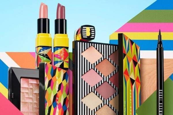 """ボビイ ブラウン""""絵の具""""を塗るように楽しむ9色アイパレット、英国アーティストとコラボ"""